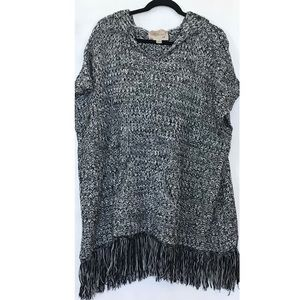 Ethereal by Paper Crane Knit Hooded Poncho